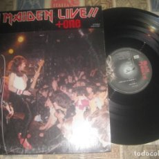 Discos de vinilo: IRON MAIDEN - LIVE! + ONE - MINI LP (EMI RECORDS 1980)+ENCARTE OG JAPONÉS LEA DESCRIPCION. Lote 228125170