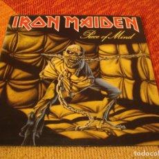 Discos de vinilo: IRON MAIDEN LP PIECE OF MIND EMI ODEON ORIGINAL ESPAÑA 1983 DESPLEGABLE. Lote 228143995