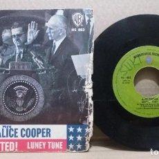 Discos de vinil: ALICE COOPER / ELECTED! / SINGLE 7 INCH. Lote 228168993