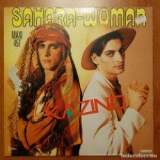 Discos de vinilo: DISCO DE VINILO SAHARA-WOMAN KAZINO MAXI 45T. Lote 228180690