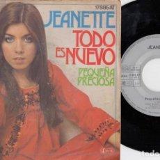 Discos de vinilo: JEANETTE - TODO ES NUEVO / PEQUEÑA PRECIOSA - SINGLE DE VINILO EDCICION ALEMANA. Lote 228180945