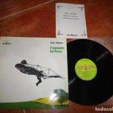 Discos de vinilo: JOSE AFONSO ENQUANTO HÁ FORÇA LP VINILO DEL AÑO 1978 ESPAÑA CON LIBRETO CONTIENE 9 TEMAS FADO RARO. Lote 228185905