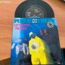 Discos de vinilo: PUBLIC ENEMY (CAN'T DO NUTTIN' FOR YA MAN) SINGLE 1988 UK (EPI20). Lote 228201430