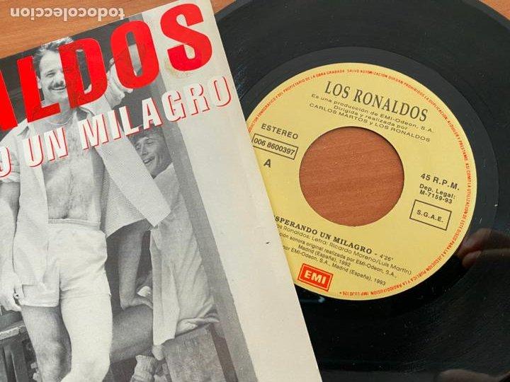 Discos de vinilo: LOS RONALDOS (ESPERANDO UN MILAGRO) SINGLE ESPAÑA 1993 (EPI20) - Foto 2 - 228208585