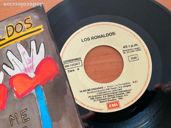 Discos de vinilo: LOS RONALDOS (YA NO ME ENGAÑAS) SINGLE ESPAÑA 1990 (EPI20) - Foto 2 - 228208970