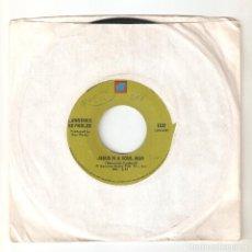 "Discos de vinilo: LAWRENCE REYNOLDS 7"" USA IMPORTACION 45 JESUS IS A SOUL MAN 1969 SINGLE VINILO FOLK COUNTRY R&B FUNK. Lote 228253777"
