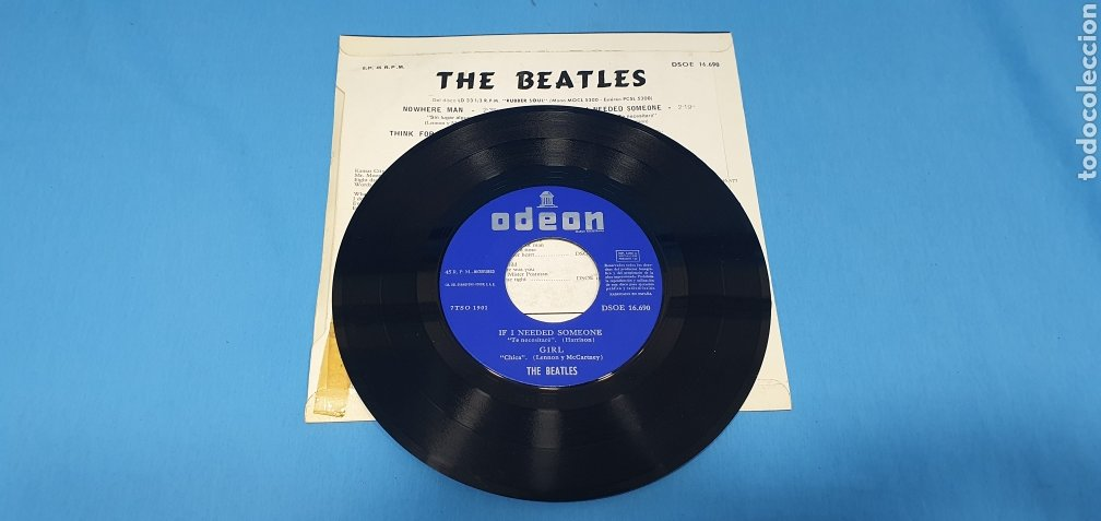 Discos de vinilo: DISCO DE VINILO - THE BEATLES - GIRL - 1966 - Foto 3 - 228277748