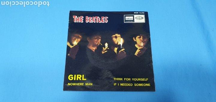 DISCO DE VINILO - THE BEATLES - GIRL - 1966 (Música - Discos - Singles Vinilo - Pop - Rock Internacional de los 50 y 60)