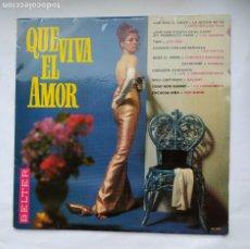 Discos de vinilo: QUE VIVA EL AMOR. VARIOS ARTISTAS. VIVO CANTANDO SALOME. LP. TDKLP. Lote 228289305