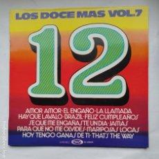 Discos de vinilo: LOS DOCE MÁS VOL. VOLUMEN 7 (RECOPILATORIO) - VARIOS ARTISTAS. LP. TDKDA79. Lote 228290220