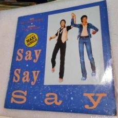 Disques de vinyle: PAUL MCCARTNEY & MICHAEL JACKSON- SAY, SAY, SAY. Lote 228299708