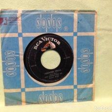Discos de vinilo: LOS COMANCHES DE ELIAS RUIZ - BUENOS DIAS SEÑORA / CHENCHO MEJIA (GARAGE MEXICO) RARO SINGLE 1967. Lote 228300835
