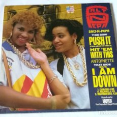 Discos de vinilo: SALT-N-PEPA / ANTOINETTE - PUSH IT / HIT 'EM WITH THIS / I AM DOWN - 1988. Lote 228304010