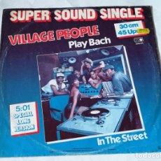 Disques de vinyle: VILLAGE PEOPLE - PLAY BACH (SPECIAL LONG VERSION) - 1982. Lote 228304370