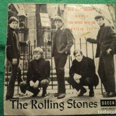 Discos de vinilo: THE ROLLING STONES: BYE BYE JOHNNY + 3 =DECCA SPAIN 1963-VEA ANUNCIO. Lote 228307370
