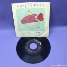 Discos de vinilo: SINGLE EURYTHMICS -- THERE MUST BE AN ANGEL -- NEW YORK 1985 --VG+. Lote 228312112