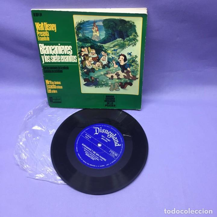 SINGLE BLANCANIEVES Y LOS SIETE ENANITOS EN CASTELLANO-- MADRID 1968 -- G (Música - Discos - Singles Vinilo - Música Infantil)