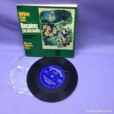 Discos de vinilo: SINGLE BLANCANIEVES Y LOS SIETE ENANITOS EN CASTELLANO-- MADRID 1968 -- G. Lote 228321040