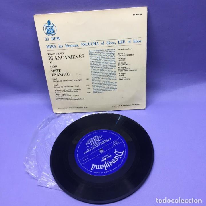 Discos de vinilo: SINGLE BLANCANIEVES Y LOS SIETE ENANITOS EN CASTELLANO-- MADRID 1968 -- G - Foto 3 - 228321040