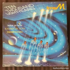 Discos de vinilo: BONEY M - TEN THOUSAND LIGHTYEARS - LP ARIOLA SPAIN 1984. Lote 228325475
