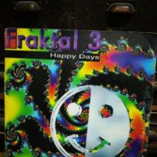 Discos de vinilo: MAXI SINGLE FRAKTAL 3- HAPPY DAYS (SCORPIA- TONI PERET, CASTELLS, Q.TEJADA...) MAX MUSIC, 1996.. Lote 228334000