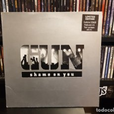 Discos de vinilo: GUN - SHAME ON YOU. Lote 228341015