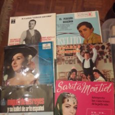 Discos de vinilo: SEIS ANTIGUOS VINILOS, DE VARIOS ARTISTAS ESPAÑOLES. Lote 228344085