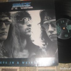 Discos de vinilo: RAGE - SECRETS IN A WEIRD WORLD- (1989-NOISE) ENCARTE OG ALEMANIA LEA DESCRIPCION. Lote 228347350
