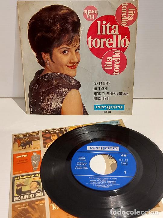 LITA TORELLÓ / CAE LA NIEVE / EP - VERGARA-1964 / MBC. ***/*** (Música - Discos de Vinilo - EPs - Solistas Españoles de los 50 y 60)