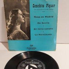 Discos de vinilo: CONCHITA PIQUER / ROSA DE MADRID / EP - COLUMBIA-1962 / MBC. ***/***. Lote 228349105