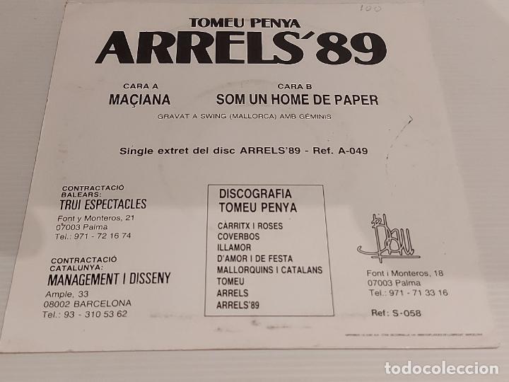 Discos de vinilo: TOMEU PENYA / MACIANA / SINGLE - BLAU-1989 / MBC. ***/*** - Foto 2 - 228351540