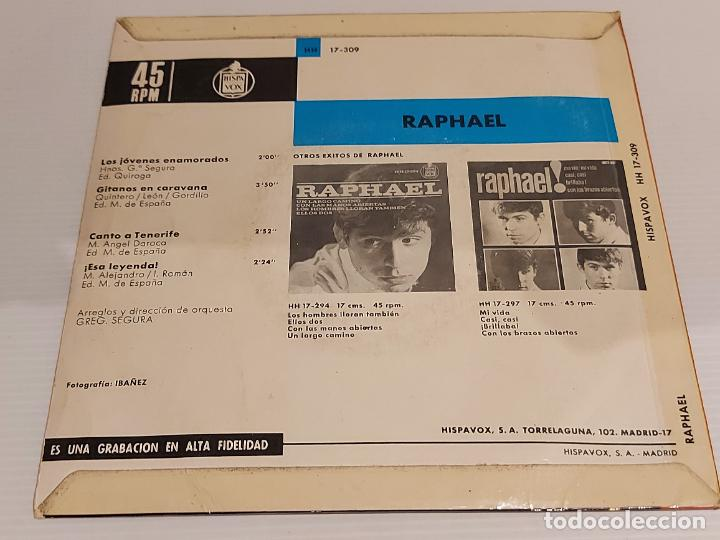 Discos de vinilo: RAPHAEL / LOS JOVENES ENAMORADOS / EP - HISPAVOX-1965 / MBC. ***/*** - Foto 2 - 228352156
