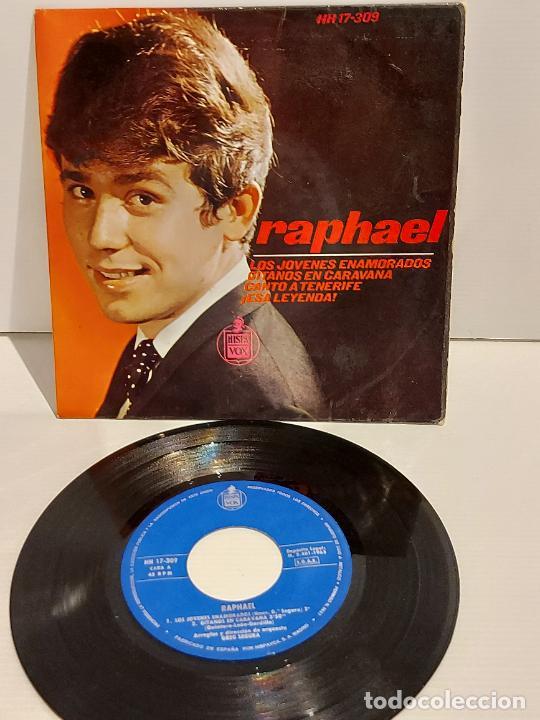 RAPHAEL / LOS JOVENES ENAMORADOS / EP - HISPAVOX-1965 / MBC. ***/*** (Música - Discos de Vinilo - EPs - Solistas Españoles de los 50 y 60)