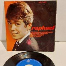 Discos de vinilo: RAPHAEL / LOS JOVENES ENAMORADOS / EP - HISPAVOX-1965 / MBC. ***/***. Lote 228352156
