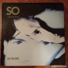 """Discos de vinilo: SO - ARE YOU SURE (12"""") (HISPAVOX, S.A.) 549 2023066. Lote 228383825"""
