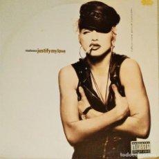 Discos de vinilo: MAXI MADONNA , JUSTIFY MY LOVE / EXPRESS YORSELF, ESPAÑA1990, (VG+_EX). Lote 228391665