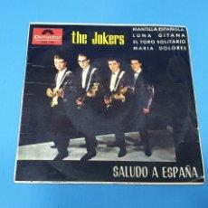 Discos de vinilo: DISCO DE VINILO - THE JOKERS - SALUDO A ESPAÑA - 1964. Lote 228410595
