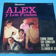 Discos de vinilo: DISCO DE VINILO - ALEX Y LOS FINDES - CORRE, CORRE / VOY, VOY - 1966. Lote 228429905