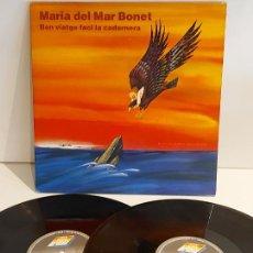 Discos de vinilo: MARIA DEL MAR BONET / BON VIATGE FACI LA CADERNERA / DOBLE LP-GATEFOLD - ARIOLA-1990 / MBC. ***/***. Lote 228430835