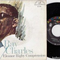 Discos de vinilo: RAY CHARLES - ELEANOR RIGBY / UNDERSTANDING - SINGLE ESPAÑOL DE VINILO. Lote 228431545