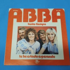 Discos de vinilo: DISCO DE VINILO - ABBA - TANTO TIEMPO / TE HE ESTADO ESPERANDO - 1974. Lote 228431780