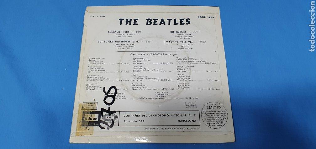 Discos de vinilo: DISCO DE VINILO - THE BEATLES - ELEANOR RIGBY / GOT TO GET YOU INTO MI LIFE - 1966 - Foto 6 - 228435225