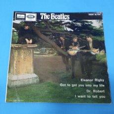 Discos de vinilo: DISCO DE VINILO - THE BEATLES - ELEANOR RIGBY / GOT TO GET YOU INTO MI LIFE - 1966. Lote 228435225