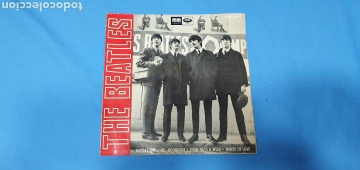 DISCO DE VINILO - THE BEATLES - KANSAS CITY / MR. MOONLIGHT - 1964 (Música - Discos - Singles Vinilo - Pop - Rock Internacional de los 50 y 60)