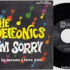 Discos de vinilo: THE DELFONICS - I'M SORRY / LA LA MEANS I LOVE YOU - SINGLE ESPAÑOL DE VINILO - STATESIDE. Lote 228437176