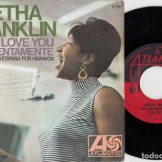Discos de vinilo: ARETHA FRANKLIN - BABY I LOVE YOU - SINGLE ESPAÑOL DE VINILO. Lote 228441705