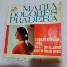 Discos de vinilo: MARIA DOLORES PRADERA - EL ROSARIO DE MI MADRE + 3. Lote 228459925