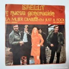 Discos de vinilo: SHELLY Y LA NUEVA GENERACION- LA MUJER DIABLO - SINGLE 1968- VINILO EN BUEN ESTADO.. Lote 228462085