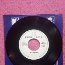 Discos de vinilo: SINGLE CHIMO BAYO - BOMBAS - BOL RECORDS BOL 08.7 - PROMO (-/NM). Lote 228471055