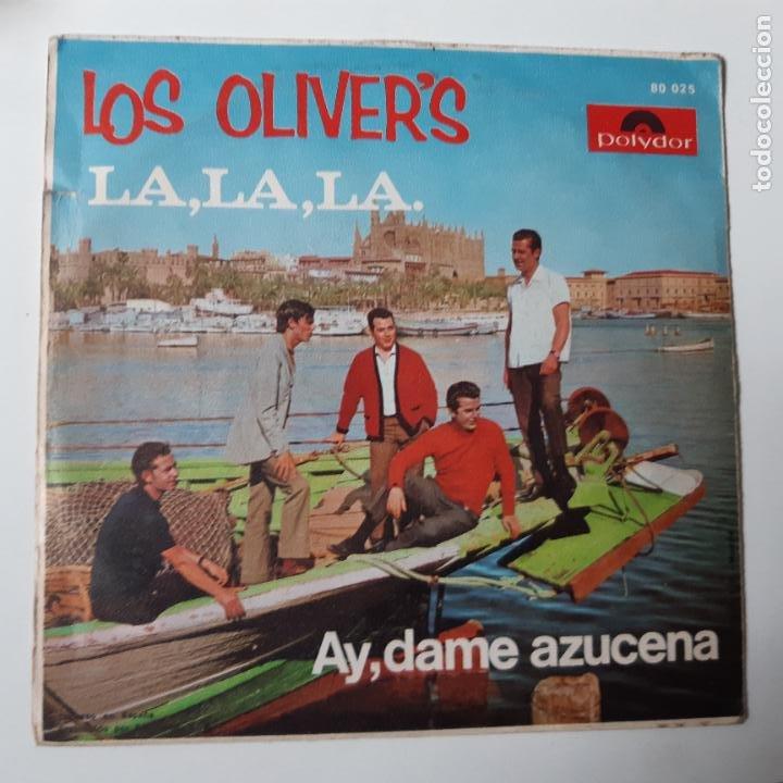 Discos de vinilo: LOS OLIVER´S - LA, LA, LA - SINGLE 1968. - Foto 2 - 228471425